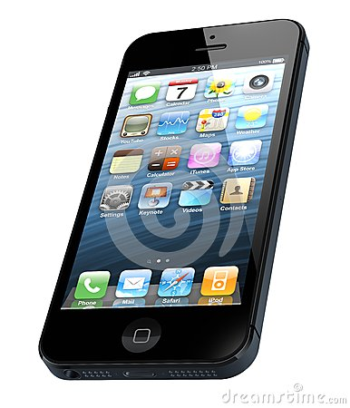 IPhone novo 5 de Apple Imagem Editorial