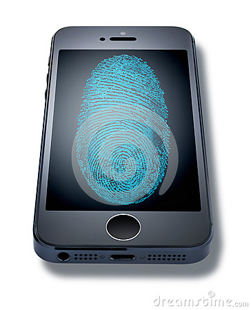 iphone Fingerprint Cell Phone Editorial Photo