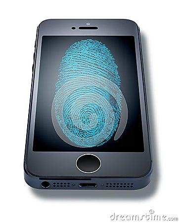 iphone Fingerprint Cell Phone Editorial Photo