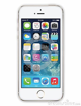 Iphone 5 White Vector Editorial Stock Image Image 43411959