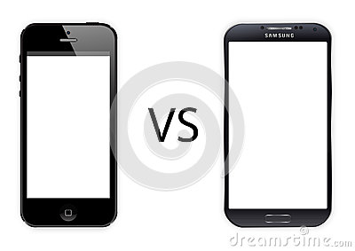 Iphone 5 vs Samsung galaxy s4 Editorial Photo