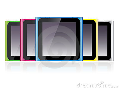Ipod Nano Set EPS Editorial Image