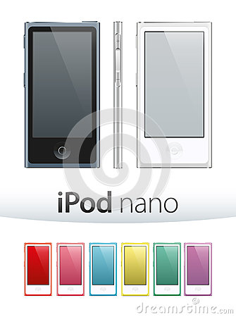 Ipod Nano Vector Editorial Stock Photo
