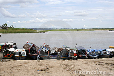 Iquitos Port, Peru, South America Editorial Stock Image