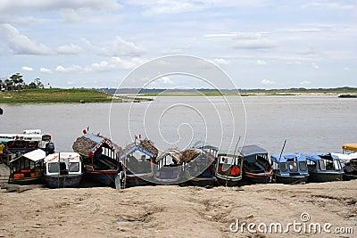 Iquitos Port, Peru, South America Editorial Stock Image