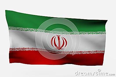 Iran 3d flag