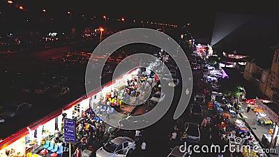 Iran Astara Seashore bazaar Ook genoemd Russisch Bazaar - 20 juli 2019 Iran Astara stock footage