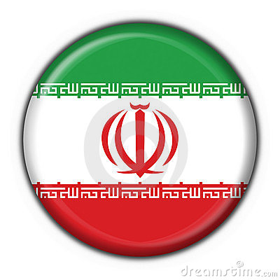 Iran button flag round shape
