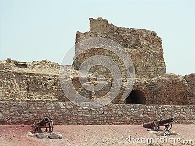 Iran, Hormuz Island Portuguese mighty fortress