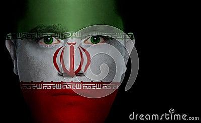 Iranian Flag - Male Face