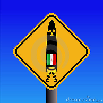 Iranian missile warning sign