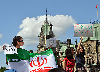 Iranians in Canada protest 2009 election results Editorial Image