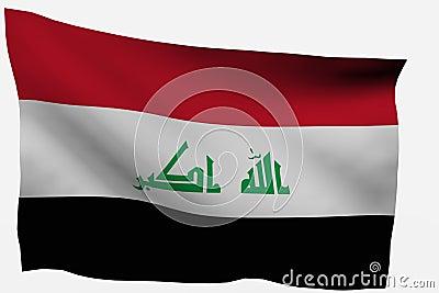 Iraq 3D flag