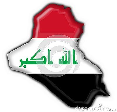 Iraq button flag map shape