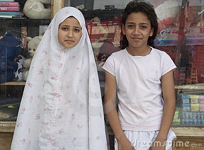 Iraq Refugee Girls Editorial Image