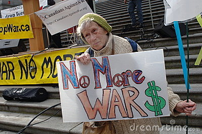 Iraq war protest Editorial Stock Image
