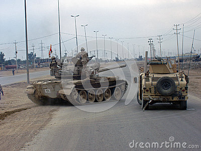 Iraqi Army Tank Editorial Image