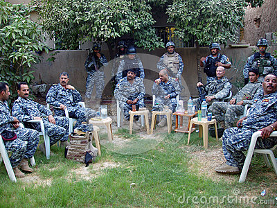 Iraqi National Police Planning Editorial Stock Image
