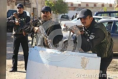 Iraqi Policemen in Kirkuk Editorial Photography
