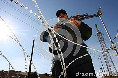 Iraqi Policemen in Kirkuk Editorial Image