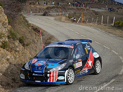 IRC 2011 - GARDEMEISTER / TUOMINEN - Peugeot 207 Editorial Photography