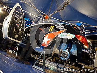 IRC 2011 - GARDEMEISTER / TUOMINEN - Peugeot 207 Editorial Stock Photo