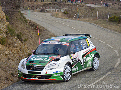 IRC 2011 - KOPECKY / STARY - Skoda Fabia S2000 Editorial Photography