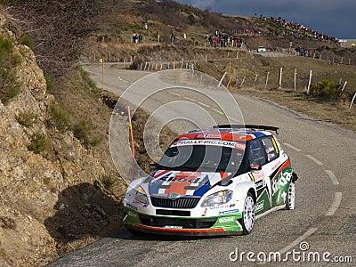 IRC 2011 - MIKKELSEN / FLOENE - Skoda Fabia S2000 Editorial Stock Image