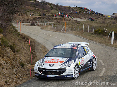 IRC 2011 - SARRAZIN / RENUCCI - Peugeot 207 S2000 Editorial Stock Photo