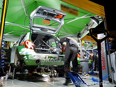 IRC 2011 - SKODA MOTORSPORT Service Editorial Stock Image