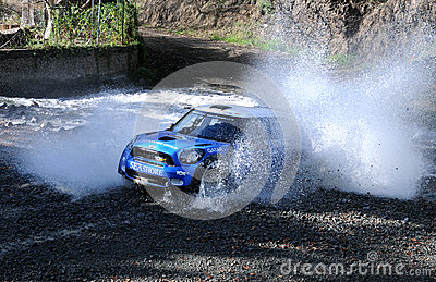 IRC, Cyprus Rally 2012 Editorial Stock Photo