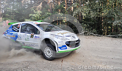 IRC RALLY SIBIU SS2 CRINTI 1 Editorial Stock Image