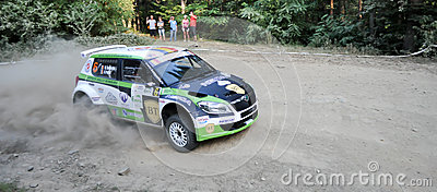 IRC RALLY SIBIU SS2 CRINTI 1 Editorial Photo