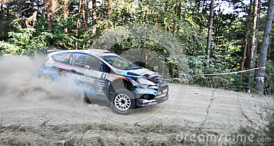 IRC RALLY SIBIU SS2 CRINTI 1 Editorial Photography