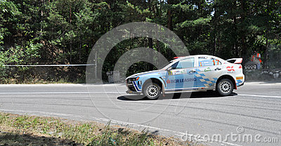IRC RALLY SIBIU SS9 SANTA MAX Editorial Stock Photo
