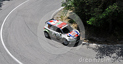 IRC RALLY SIBIU SS9 SANTA MAX Editorial Photography