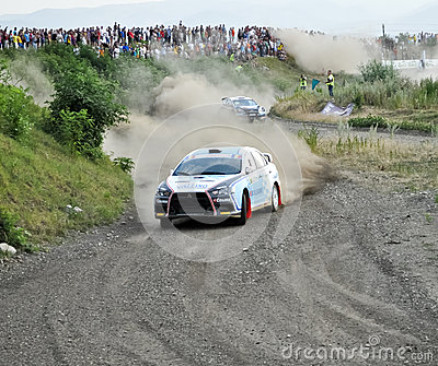 IRC RALLY SIBIU SSS 12  SUPERSPECIAL Editorial Image