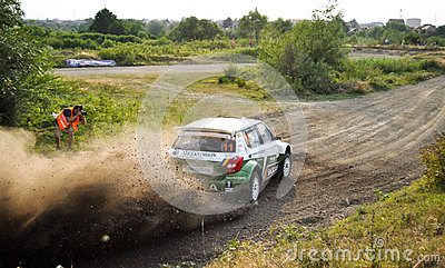 IRC RALLY SIBIU SSS12 SUPERSPECIAL Editorial Stock Photo