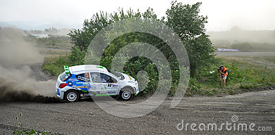 IRC RALLY SIBIU SSS12 SUPERSPECIAL Editorial Photo