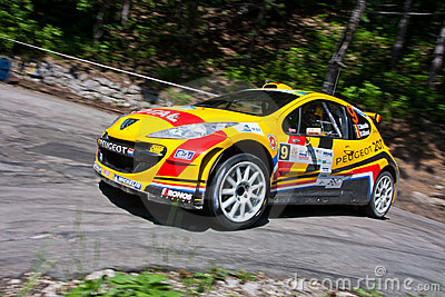 IRC Yalta Prime Rally 2011 Editorial Stock Photo