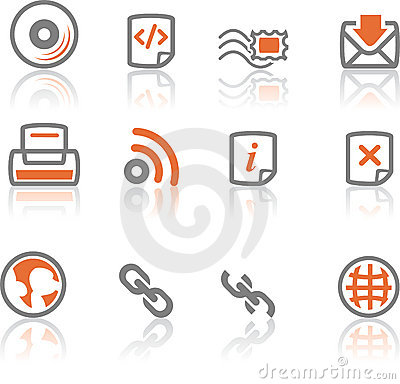 Ireflect set 4 - Web and Internet Icons Editorial Photo