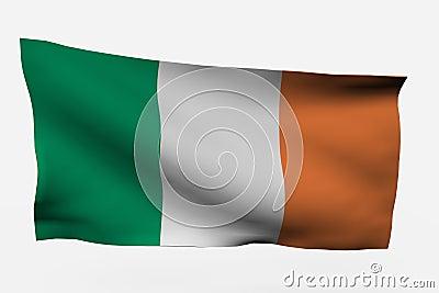 Ireland 3d flag