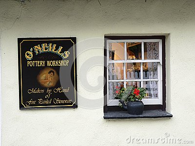 Ireland. Bunratty Folk Park Editorial Stock Photo