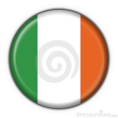 Ireland button flag round shape