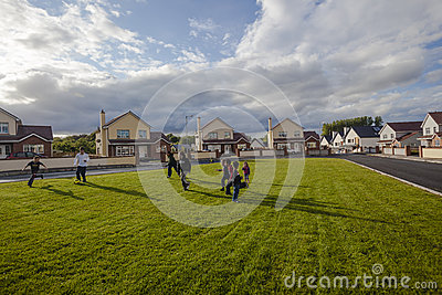 Ireland Children Football Homes  Editorial Photo