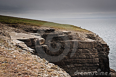 ireland, cliffs under dramatic sky, Loop Head