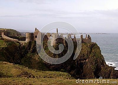 Ireland Dunluce Castle ruins