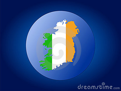 Ireland map flag sphere