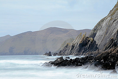 Ireland seashore at Dingle peninsula