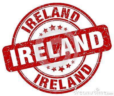Ireland stamp Vector Illustration
